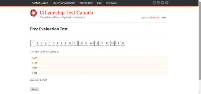 Canada citizenship test tips
